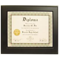 "China 13""x10"" Overall Size Pure Solid Black Wooden Picture <strong style=""color:#b82220"">Frames</strong> for Certificates wholesale"