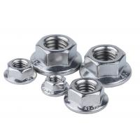 Buy cheap Galvanized 10mm Stainless Steel Nuts M6 Fine Thread Serrated Hex Flange Nut from wholesalers