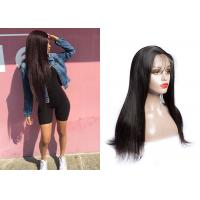 China Full And Comfortable Remy Lace Front Wigs With Bangs No Shedding 10-30 Inch wholesale
