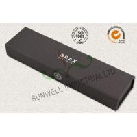 China Luxury Black Color Office Paper Box , Spot UV Coating Cardboard Packing Box wholesale