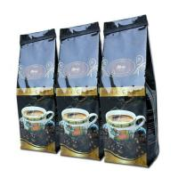China Glossy Black Tin Tie Side Gusset Coffee Packaging Bag Gravure Printing wholesale