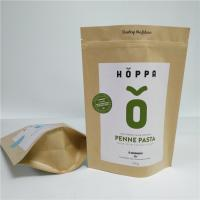 China Kraft Paper Material Stand Up Pouch Peanut Protein Powder Packaging Gravure Printing wholesale