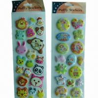 China Puffy stickers, customized sizes, logo printings, materials and requirements are accepted wholesale