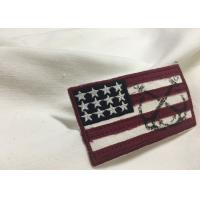 Merrow Border Custom Stitched Patches , Clothing Iron On Embroidered Patches For