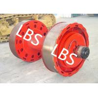 China 10ton 20ton Smooth Wire Rope Winch Drum With Split Type Lebus Groove Sleeve wholesale