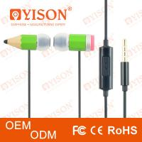 China Stylish headphone with soft silicone earbug & mic iPhone mp3 nokia style magic pencil in ear earphone wholesale