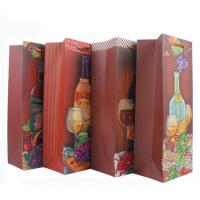 China Free design fancy professional custom Reusable Paper Folding christmas gift wine bag wholesale