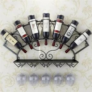 China Stemware Metal Wall Mounted Wine Glass Rack , Trendy 7 Bottle Wine Rack wholesale