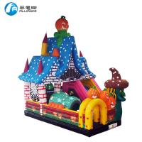 China Commercial PVC Tarpaulin Inflatable Halloween Bouncer with Slide for Kids wholesale