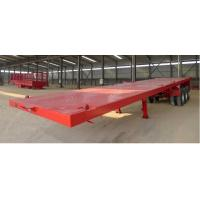 China Long Vehicles Flat Bed Semi Trailer 3 Axles 20ft 40ft 45 Tons With Twist Lock wholesale