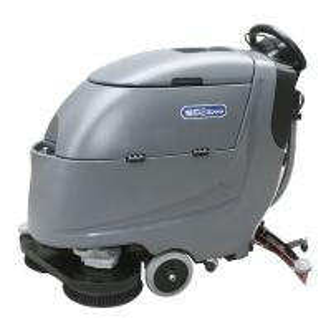 China Double Brush Disc Floor Scrubber Dryer Machine , Walk Behind Floor Cleaner wholesale