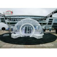 China UV Resistant Transparent Geodesic Dome Tent , Outdoor Event Half Sphere Tent wholesale