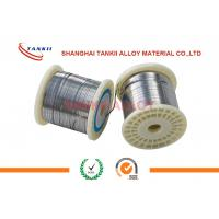 China NiCr8020 Bright Flat Nicr Alloy Wire 0.15mm Width For Sealing Machine / Pit Furnace wholesale