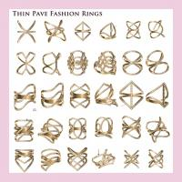 China Thin pave fashion rings in 925 sterling silver with 18k gold palted wholesale manufacturer wholesale