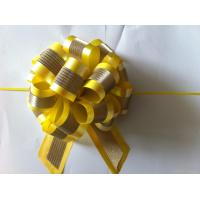 China Plastic Star Pom Pom Ribbon Bow For Holiday Decoration / Glitter Present Bows wholesale