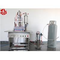 China Semi Automatic Lubricant Sprays Aerosol Filling Machines wholesale