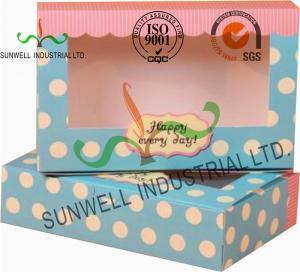China UV Coating Paper Egg Tart Take Away Food Packaging Boxes Gold Stamping wholesale