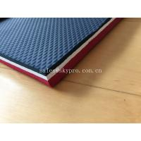 China Colorful Embossed Rubber Soling Sheet With SCR Neoprene Fabric , Elliptic Pattern wholesale