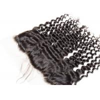 China Deep Curly Wave 13*4 Virgin Hair Frontal With Natural Color Can Be Ironed wholesale