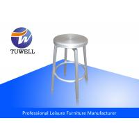 China Non Corrosive Navy Counter Bar Stools With Durable Welded Aluminum Frame wholesale