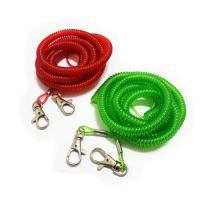 China Safe popular sales red/green fashionable fexible tool coil wire inside stop-dorp tethers wholesale