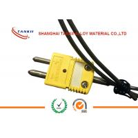 China K Type Thermocouple Standard Solid Pin Connectors with yellow colour or green colour wholesale