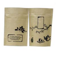 China Stand Up Kraft Paper Snack Bag Packaging / Peanut Packing Bag With Zipper Top wholesale