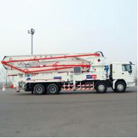 China Sinotruk HOWO Concrete Pump Truck With 21m Flexible And Efficient Telescopic Boom wholesale