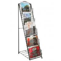 China Simple Design Modern Magazine Display Rack 5 Layers A4 Book Shelf Anti Corrosive on sale