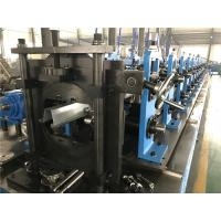 China 3T Double Head Decoiler Top Hat Roof Panel Roll Forming Machine with Flatten Auto Stacker wholesale