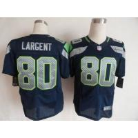China Nike NFL Seattle Seahawks #80 Steve Largent blue elite jersey wholesale