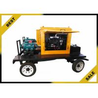 China Rainproof Trailer Diesel Engine Water Pump With 24 KW Engine Water Cooling wholesale