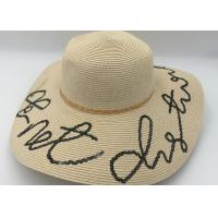 China Womens Sun Hat Foldable Floppy Travel Packable  Summer Beach Straw Hats wholesale