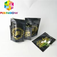 China Logo Custom Plastic Pouches Packaging Glossy Foil Weed Seed Mylar Zipper Doypack Bags wholesale