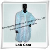 China Medical Scrub Uniforms Non Woven Lab Coat Comfortable Round / V shape Neck , Disposable Surgical Gowns wholesale