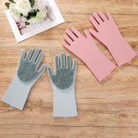 Buy cheap 2019 Reusable Silicone Dish Washing Sponge Scrubber Gloves Cleaning Glove Heat from wholesalers