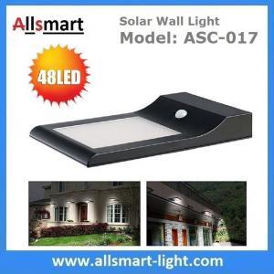 China Sensitive Motion PIR Sensor 48LED 850LM Solar Power Corner Lamp LED Light Wall Light Stairway Garden Outdoor Lighting wholesale