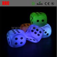 China Playing Game Glowing Dice For KTW Bar Events wholesale