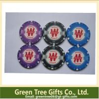 China 14g Two-Tone Stripe Clay Composite Poker Chips Pokerchips wholesale