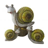 China Caroon Snail Garden Ornaments , Animal Garden Ornaments OEM Acceptable on sale
