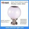 Buy cheap LED Round Solar Pillar Lights White Globular E27 Solar Post Pole Column Light from wholesalers