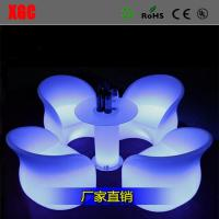 China Hot Selling Quincunx Dinner Chair Patio plastic Back Rest Chiar LED Plastic Chair wholesale