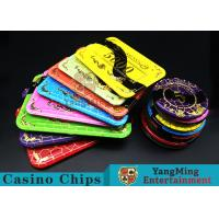 Crystal Acrylic Casino Poker Chips With Mesh Bronzing Silk Screen for sale