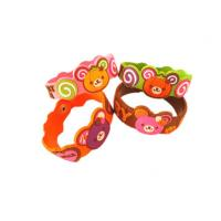 China Cartoon / Sport Designs Soft PVC Custom Event Wristbands For Promotional Gifts wholesale