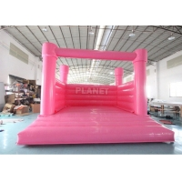 China Custom Color Inflatable Wedding Bouncer White Bouncy Castle Inflatable White Castle Bounce House wholesale