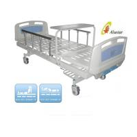 Quality Luxuary Foldable Aluminium Railing Medical Hospital Beds With Overbed Table ( ALS-M217) for sale