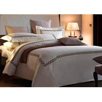 China Home / Hotel Modern Duvet Covers And Shams Embroidered 4 Pcs Patten Customized wholesale