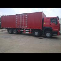 China Small Cargo Truck 336HP 371HP 8x4 12 Tires Stake Side Wall Box Cargo Truck wholesale