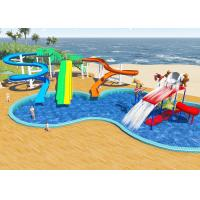 Quality Swimming Pool Water Park Design / Constrction , Holiday Resort Water Slide Design for sale