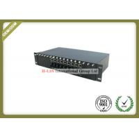 China 2U 16 Slots Media Converter Rack Mount Chassis With Dual Power For Card Type wholesale